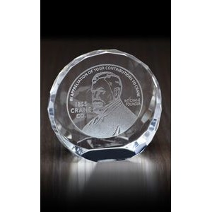 Tilting Circle Paperweight Award